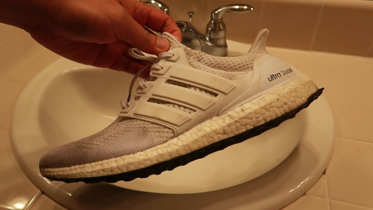 770045d9b ASMR Sneaker cleaning MY FILTHY All White Ultra Boost - YouTube