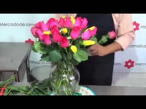 Regalar Flores Tulipanes Amarillos Y Rosas Gracias Fucsia Youtube
