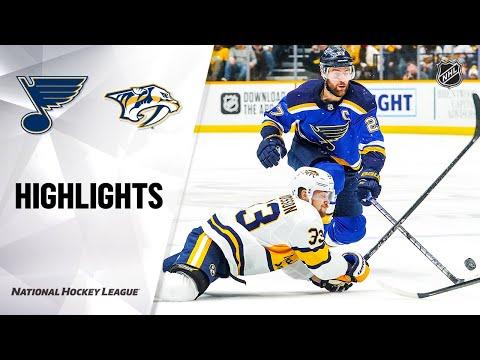 NHL Highlights   Blues @ Predators 2/16/20