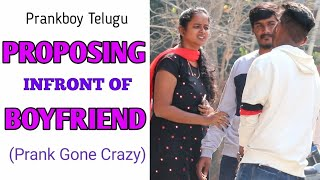 Next Level Proposing Infront Of Boyfriend || Telugu Pranks || Prankboy Telugu || bigo live