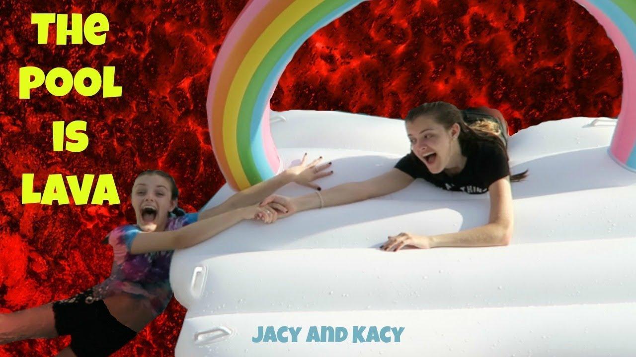 THE POOL IS LAVA CHALLENGE 2018 ~ Jacy and Kacy