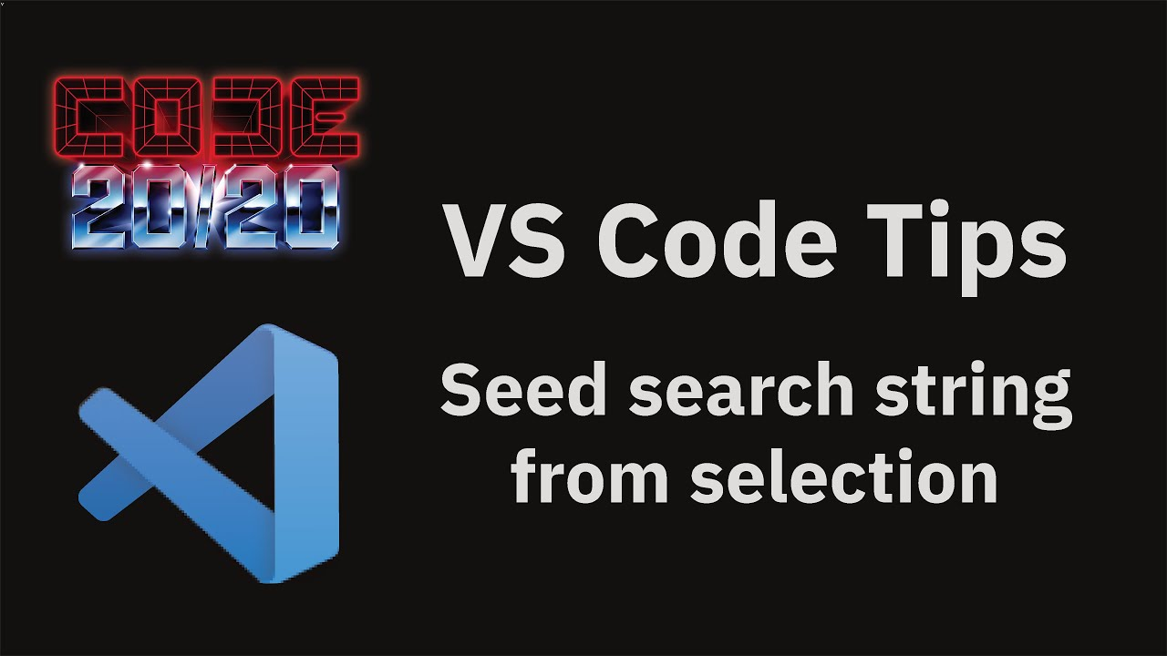 Seed search string from selection
