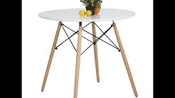 Coavas/How to install White Round Coffee Table/Round Dining Table?