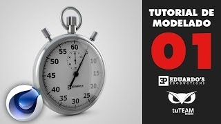 Tutorial Cinema 4D: Modelar un Cronómetro