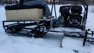 видео Самодельный снегоход - вездеход