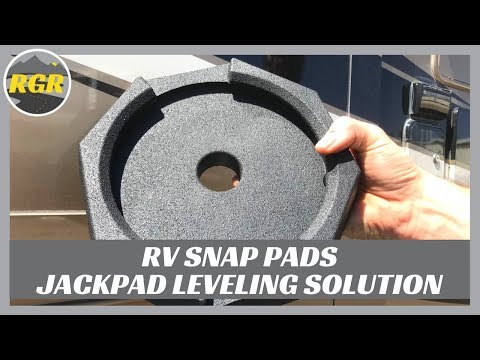 RV SnapPad Permanently Attached Leveling Jack Pad   Product Review