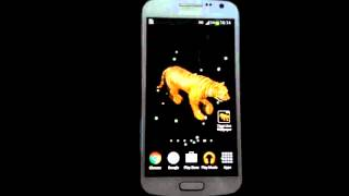 Tiger on my screen live wallpaper for Android phone and tablets