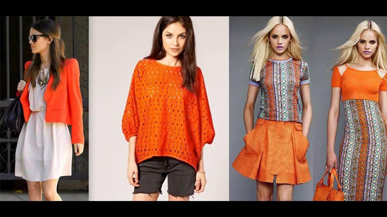 como combinar la ropa color naranja youtube