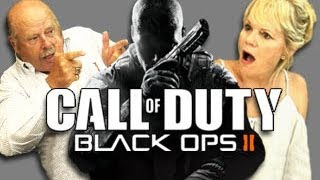 Elders React to Call of Duty Black Ops 2 (Trailer & Gameplay)