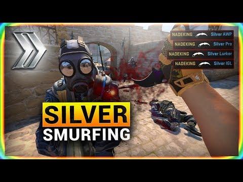 CS:GO SMURFING in SILVER
