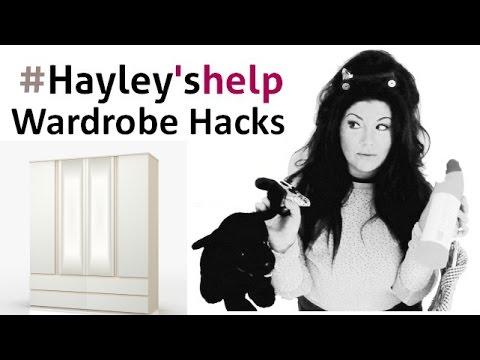 "Wardrobe Hacks - from ""Hayley's Helpfull Hacks"" how to Organise your wardrobes"