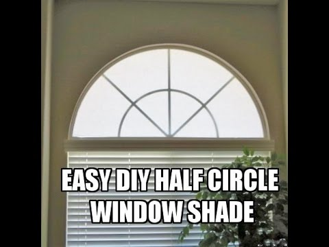 Diy Half Circle Window Shade Cover Tutorial Youtube