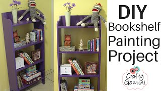 Diy Bookshelf Painting- Sherwin-williams Latino