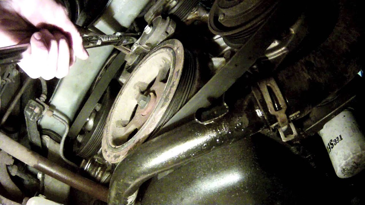 hight resolution of how to remove a serpetine belt on a dodge caravan