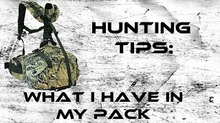 Hunting Tips: What I keep In My Pack