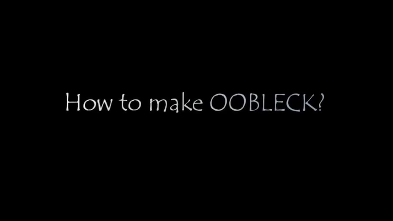 Watch How to Make Oobleck Without Cornstarch video