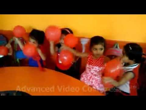 Nursery Lily kids familiar with red colour objects at Renaissance School,  Bulandshahr