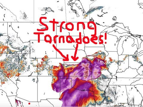 Large Tornadoes, Large Hail and Damaging Wind Likely