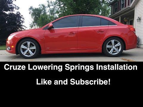 Chevy Cruze / Sonic Lowering Springs Install DIY – B&G, Eibach, H&R, Vogtland