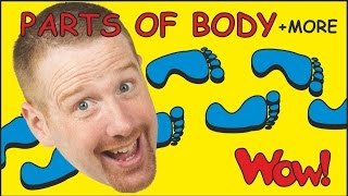 Body Parts + MORE Magic English Stories for Kids from Steve and Maggie by Wow English TV
