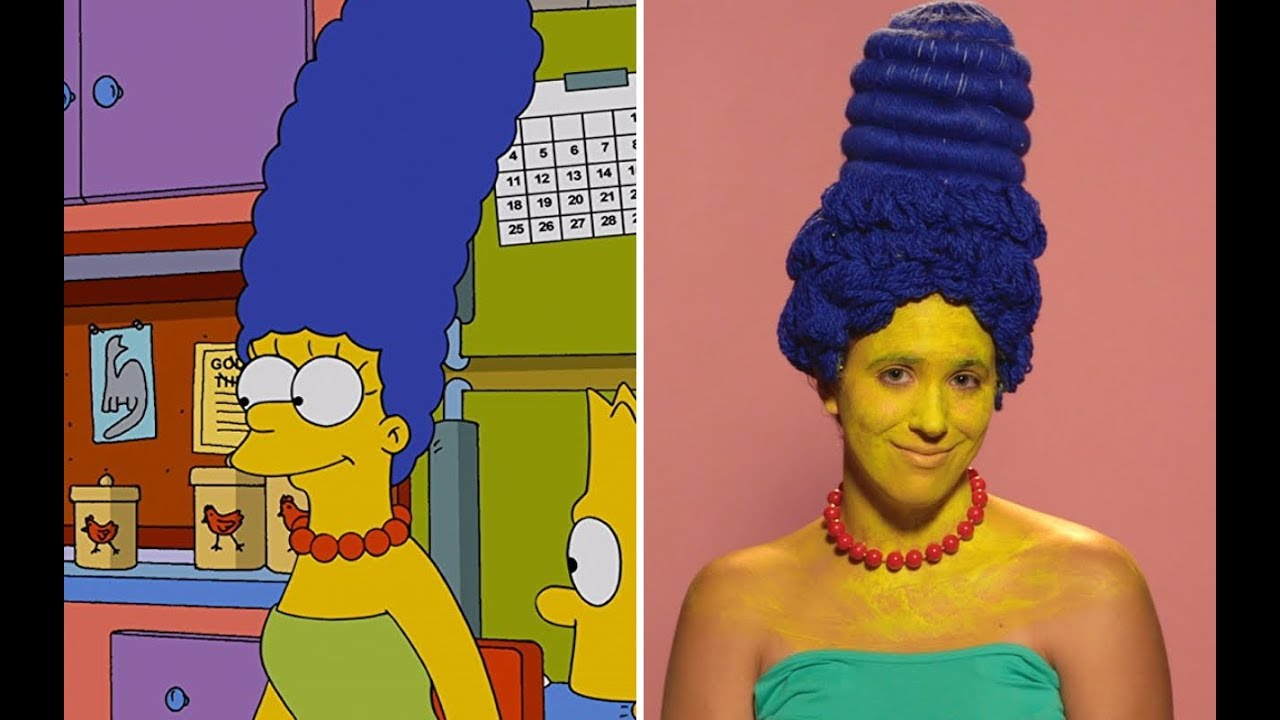 Here S How To Make Your Hair As And Blue Marge Simpson