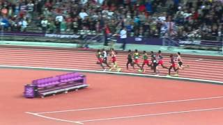2012 London Olympics 10k, Mo Farah wins! (Last 3 laps)