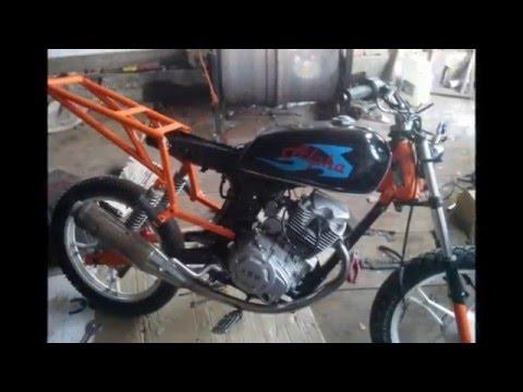 лучшая переделка из мопеда альфа [В]гараже мотоциклиста
