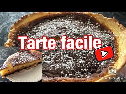 tarte-au-fromage-blanc-et-pépites-au-chocolat---facile--