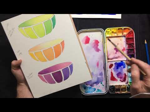 Watercolor Instruction - Bowl Swatch Color Study 01 Mp3