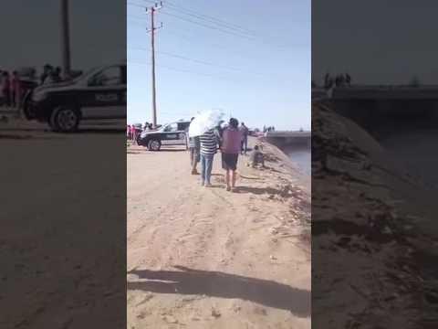 Mujer se muere en canal de San Luis  río colorado sonora de 21 años :(