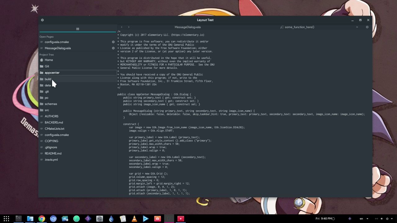 GNOME Builder - New Project Tree - Prototyping