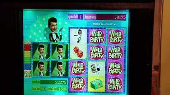 Jackpot ☆☆☆  Dean Martin's Wild Party Slot Machine Bonus Max Bet ☆☆☆ Handpay WMS Williams