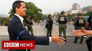 Venezuela's Guaidó appeals to military 'at air force base' - BBC News