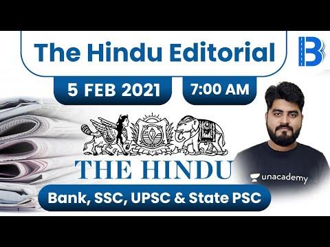 7:00 AM - The Hindu Editorial Analysis by Vishal Parihar | The Hindu Analysis | 5 February 2021