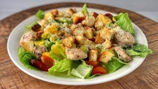 Салат Цезарь с Курицей   Рецепт   Знаем что готовить !