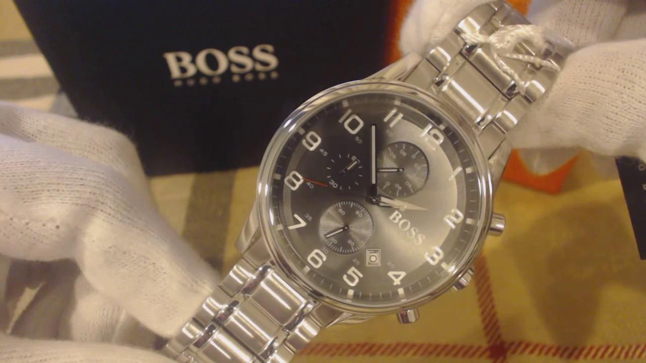 621defc40 Men's Hugo Boss Aeroliner Chronograph Watch 1513181 - YouTube
