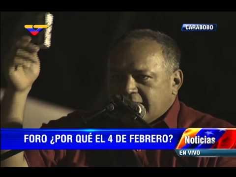 Diosdado Cabello, foro: ¿Por qué el 4 de Febrero?