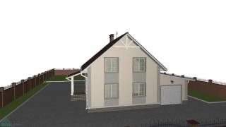 Проект компактного мансардный дома «Уют-1» с гаражом   B-203-ТП(, 2016-10-29T09:48:10.000Z)