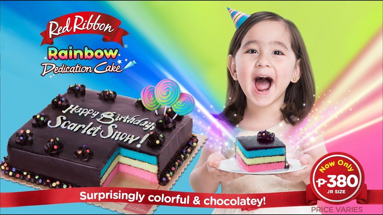 Red Ribbon Rainbow Dedication Cake Youtube