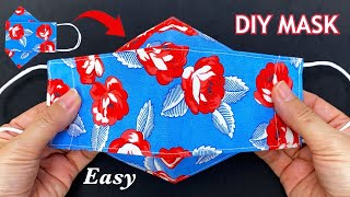 Very Easy New Style 3D Mask Diy Face Mask Easy Pattern Sewing Tutorial Breathable Mask Making Idea