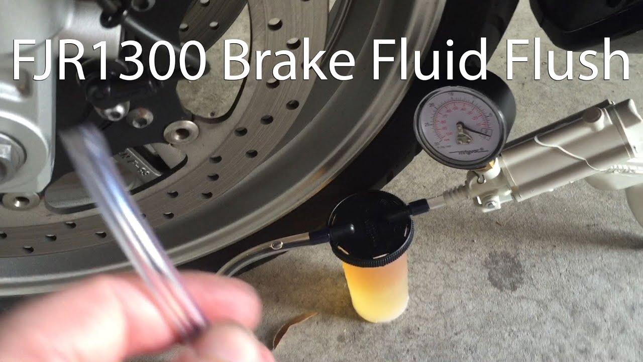 how to front and rear fjr1300 brake fluid flush youtube. Black Bedroom Furniture Sets. Home Design Ideas