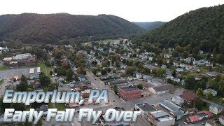 PA Wilds - Early Fall Emporium Fly Over
