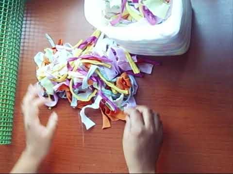 40 manualidades como hacer alfombra con trapillo - Como hacer alfombras con trapillo ...