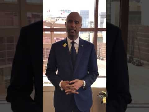 Honourable Ahmed D. Hussen, Minister of Immigration, Refugees and Citizenship