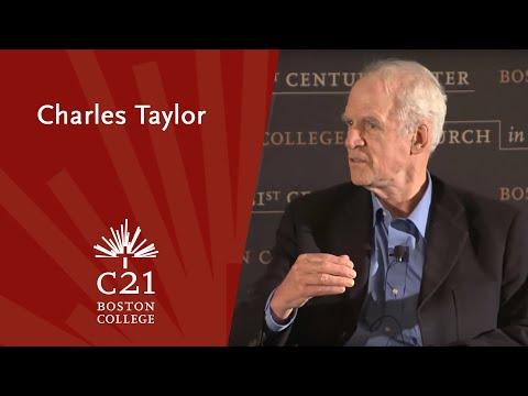 Charles Taylor, professor emeritus, McGill University and Fr. Robert Imbelli, facilitator
