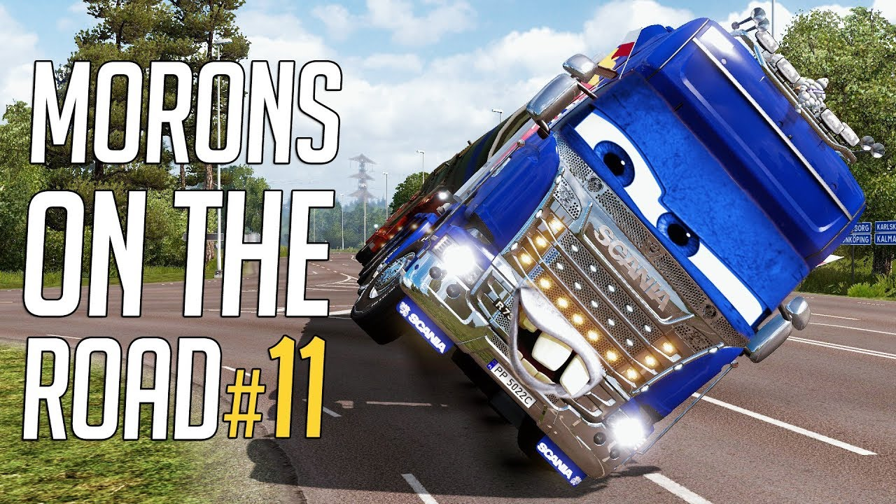 euro truck simulator 2 morons on the road 11 crash. Black Bedroom Furniture Sets. Home Design Ideas