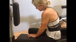Paraplegic woman in fitness