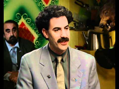 Borat (Sacha Baron Cohen) interview part 1