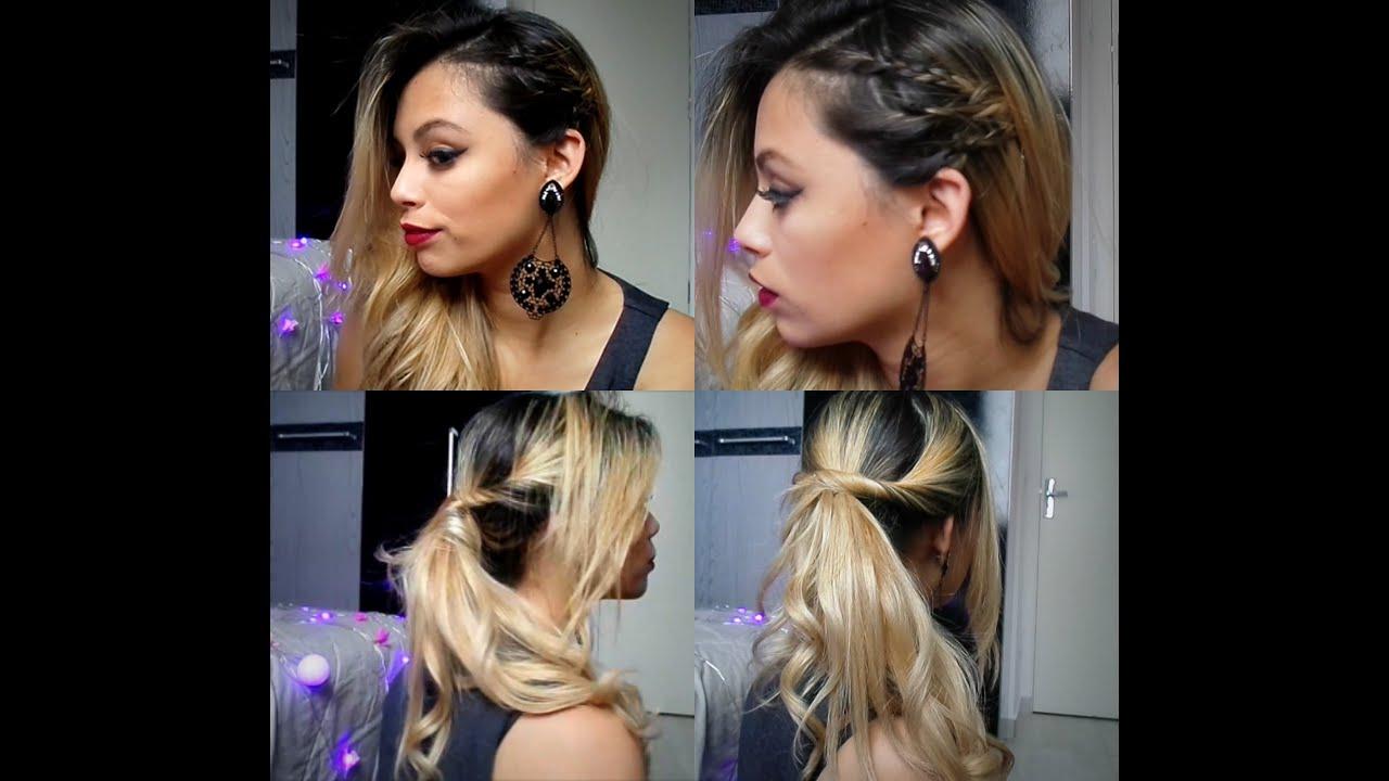 Os tipos de penteados trançados lateralmente
