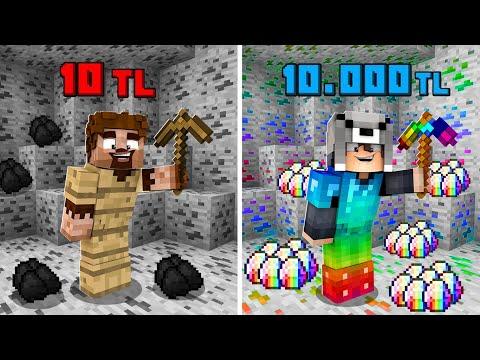 1 TL MADEN VS 10.000 TL MADEN! 😱 - Minecraft